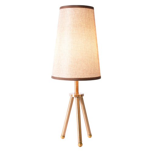Brown Bedside Table Tripod Desk Lamp-Starry Night