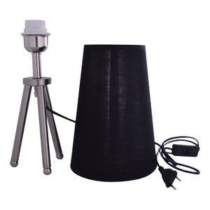 Silver Tripod Table Lamp With Black Shade-Starry Night