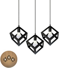 Load image into Gallery viewer, Vintage 3-Light Kitchen Island Pendant Light, Black