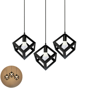 Vintage 3-Light Kitchen Island Pendant Light, Black