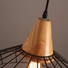 Load image into Gallery viewer, Metal Cage Pendant Light with Wood Base-Starry Night