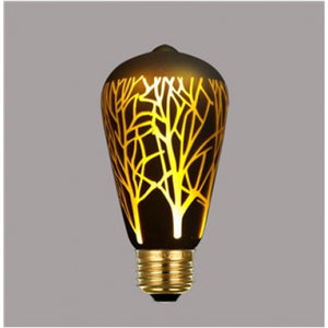 Decorative Led Bulb (Laser Design, Edison),Warm White