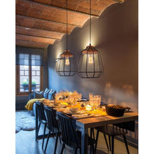 Load image into Gallery viewer, Modern Vintage Victorian Bronze Metal Ceiling Pendant Light-Starry Night