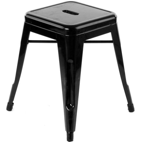 Metal Stool 45 cm, Black