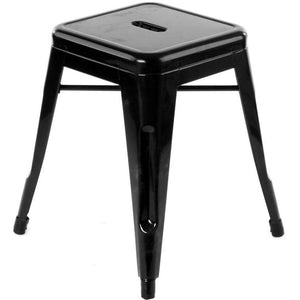 Metal Stool 45 cm, Black-Starry Night