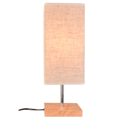 Square Table Lamp Bedside Lamp with Shade