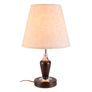 Brown E27 Table Lamp Bedside Lamp with Shade