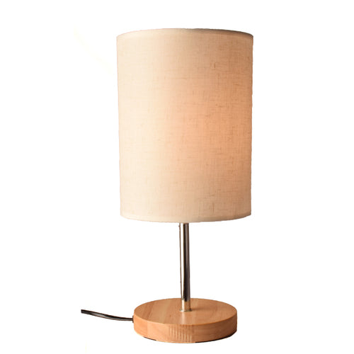 Circular Table Lamp Bedside Lamp with Shade
