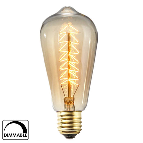 Edison Spiral Design Vintage Glass Light Bulb (Warm White, 40W, E27)