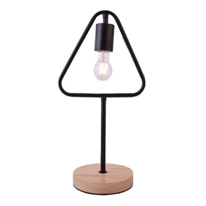 Triangle Iron Table Lamp with LED Bulb
