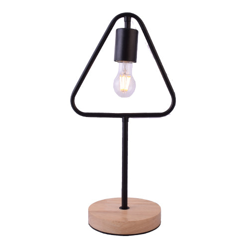 Triangle Iron Table Lamp with LED Bulb-Starry Night