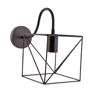 Square Industrial Vintage Wall Light E27 Holder