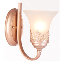 Load image into Gallery viewer, Wall Light Rose Gold with Frosted Glass Shade, E27-Starry Night