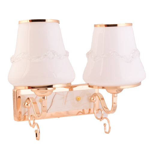 2 Lamp Wall Light Fixtures with Glass Shade,Gold Finish-Starry Night