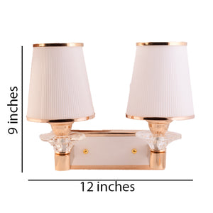 2 Lamp Wall Light with Glass Shade