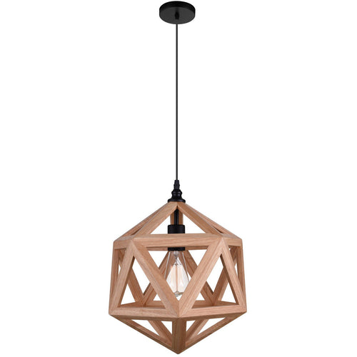 Geometric Pendant Light 1 E27 Light, Brown-Starry Night