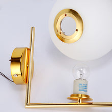 Load image into Gallery viewer, Golden Milk White Ball Wall Lamp