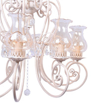 Load image into Gallery viewer, Ivory Elegant Chandelier With Glass Shades - 10 Light-Starry Night