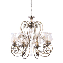 Load image into Gallery viewer, Bronze Elegant Chandelier With Glass Shades - 10 Light-Starry Night