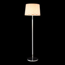 Load image into Gallery viewer, White Floor Lamp with Diamond Cut Shade