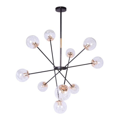 Modern Mobile Globe Chandelier - 10 Light-Starry Night