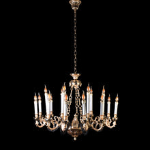 Load image into Gallery viewer, Gold Chandelier With Black Arms - 12 Light-Starry Night