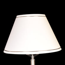 Load image into Gallery viewer, Silver Floor Lamp with White Shade