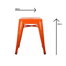 Load image into Gallery viewer, Metal Stool 45 cm, Orange