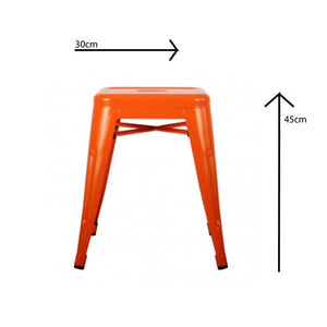 Metal Stool 45 cm, Orange