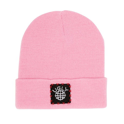 Lil Ugly Knit Beanie Pink