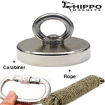 Fishing Magnet Kit - 500 lbs Fishing Magnet, Rope and Carabiner