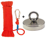 Fishing Magnet Kit - 1000 lbs Fishing Magnet + Rope + Carabiner by HIPPO MAGNETS