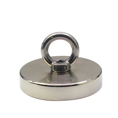 Fishing Magnet - 900 lbs Pull Force Strong Neodymium Round Hippo Fishing Magnet