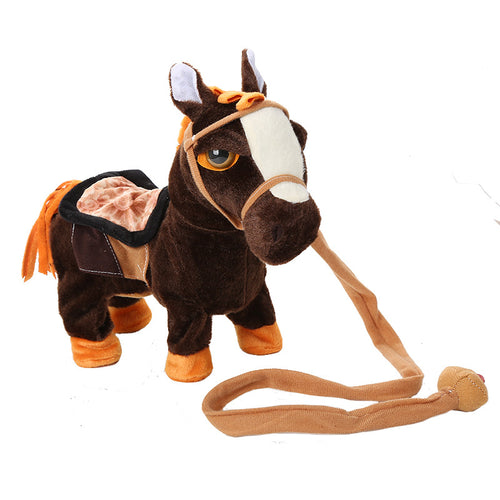 Electric Walking Unicorn Plush Toy for Children Christmas Gift