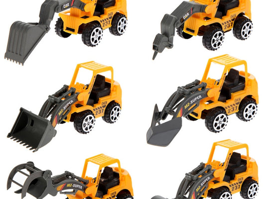 Construction Vehicles Toy Model (6 pieces)
