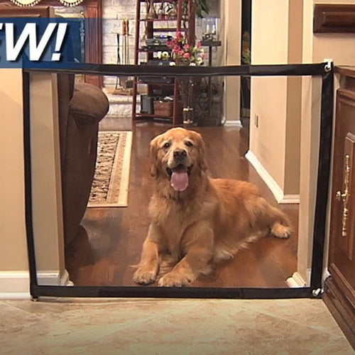 Magic Dog Gate Portable Folding Safe Guard
