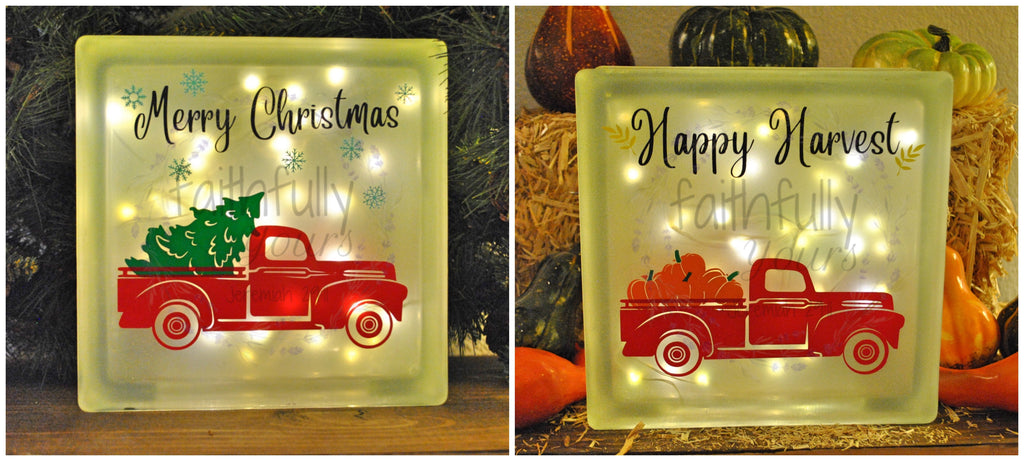 Frosted Glass Holiday Block