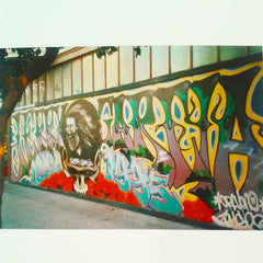 Jerry Garcia graffiti painting by CRAYONE. photo by dave cramske