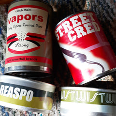 canned goods. espo twist Reas. Art on label. collectors edition.