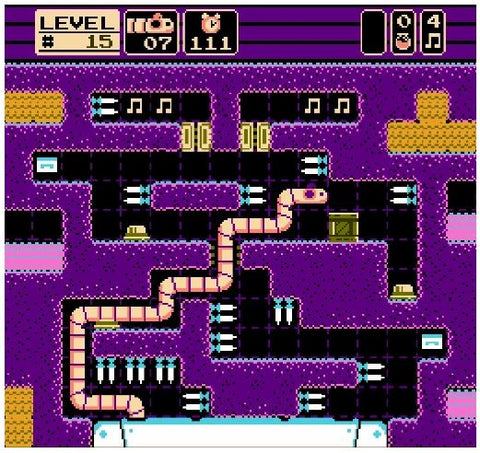 gameplay screenshot of Tapeworm nes video game for 8bit system