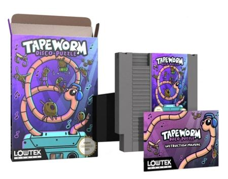 Tapeworm cib for NES grey cart version with manual