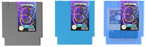 Tapeworm on cart grey blue and clear blue versions
