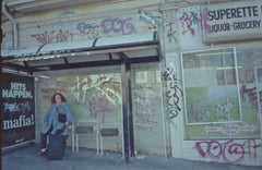 busstop graffiti in san francisco late 90's early 2000's. photo Dave Cramske