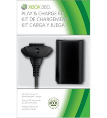 Xbox 360 Black Play and Charge Kit