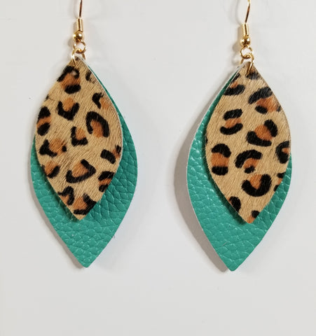 Bella - Turquoise / Leopard