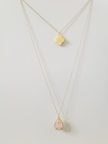 Harper - Pink Layered Necklace