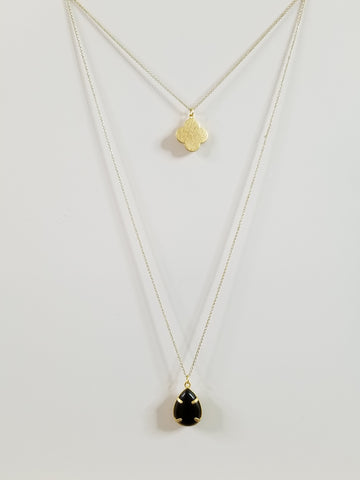 Harper - Black Layered Necklace