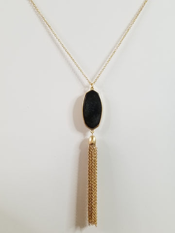 Sophia - Black / Gold Necklace