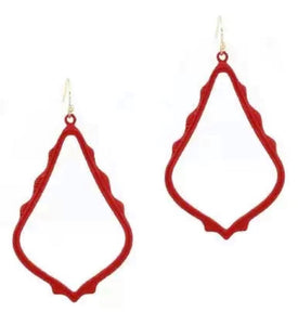 Casey Cutout Earring Red