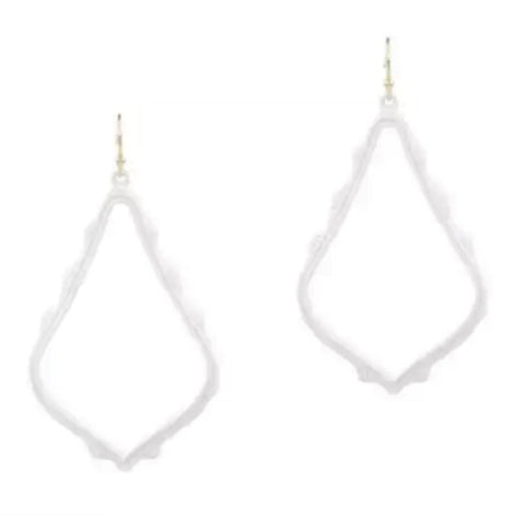 Casey Cutout Earring White